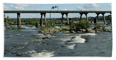 James River Rapids Beach Towel