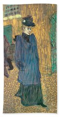 Jane Avril Leaving The Moulin Rouge, 1892 Beach Towel
