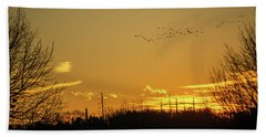 January Sunset - Lehigh Valley - Photography Beach Towel
