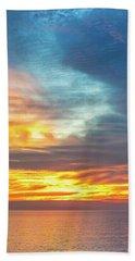 January Sunset - Vertirama Beach Towel