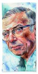 Jean-paul Sartre Portrait Beach Towel