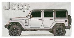 Jeep 4x4 Beach Towel