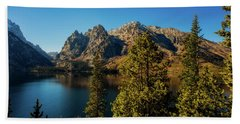 Beach Towel featuring the photograph Jenny Lake by Pete Federico