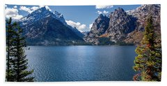 Beach Towel featuring the photograph Jenny Lake by Scott Read