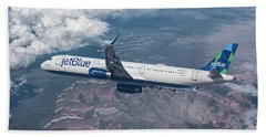 Jet Blue Over The Grand Canyon Beach Towel