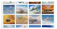 Jet Poster Beach Sheet