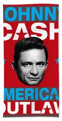 Johnny Cash - American Outlaw Beach Towel