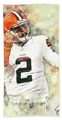 Johnny Manziel Beach Towel