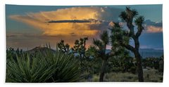 Joshua Tree Thunder Beach Towel