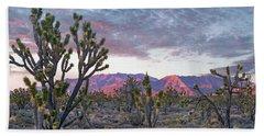 Joshua Trees And Little San Bernardino Beach Towel