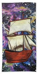 Beach Towel featuring the painting Journey Of Faith by Nathan Rhoads