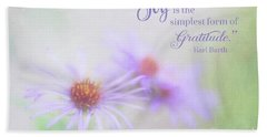 Joy And Gratitude For All Seasons Beach Sheet