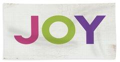 Joy In Color- Art By Linda Woods Beach Towel