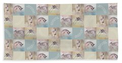 Joyful Little Fawns Collage Beach Towel