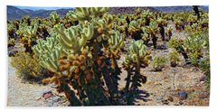 Jumping Cholla Cactus Beach Towel