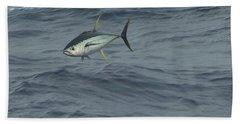 Jumping Yellowfin Tuna Beach Towel