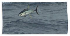 Jumping Yellowfin Tuna Beach Sheet