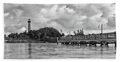 Jupiter Lighthouse 2 Beach Sheet