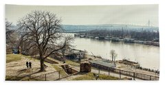 Kalemegdan Park Fortress In Belgrade Beach Sheet
