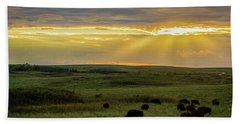 Kansas Flint Hills Sunset Beach Towel
