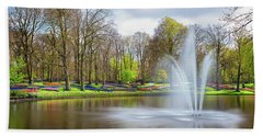 Beach Towel featuring the photograph Keukenhof Tulip Garden Holland by Nathan Bush