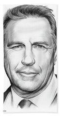 Kevin Costner Beach Towel