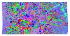 Beach Towel featuring the digital art Key Remix One by Vitaly Mishurovsky