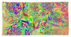 Beach Towel featuring the digital art Key Remix by Vitaly Mishurovsky