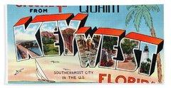Key West Greetings Beach Sheet