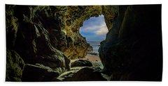 Keyhole Cave In Malibu Beach Towel