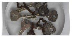 Keys In Resin Beach Towel