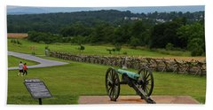 King William Artillery Marker And Cannon Gettysburg Beach Towel