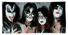 Kiss Autograph Poster Beach Towel