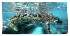Kissing Turtle Beach Towel