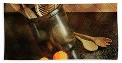 Kitchen Utensils - Mandarin Oranges Beach Towel