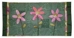 Kiwi Flowers Beach Towel