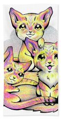 Kolorful Kitties Beach Sheet