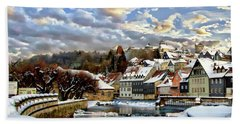 Kronach Winter Scene Beach Towel