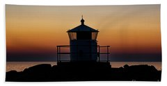 Kullaberg Small Lighthouse Silhouette Beach Towel