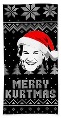 Kurt Russell Merry Kurtmas Christmas Shirt Beach Towel
