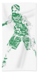 Kyrie Irving Boston Celtics Pixel Art 72 Beach Towel