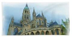 La Cathedrale De Bayeux Beach Sheet