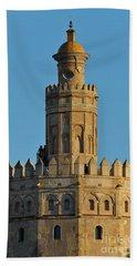 La Torre De Oro Detail. Seville Beach Towel