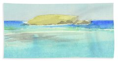 La Tortue, St Barthelemy, 1996_4179 Clean Cropped, 102x58 Cm, 6,86 Mb Beach Towel