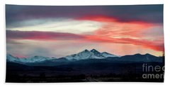 Ladies In The Sky Winter Sunset Beach Towel