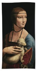 Lady With An Ermine, 1489 Beach Towel