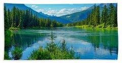 Lake At Banff Indian Trading Post Beach Sheet
