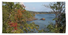 Lake Superior Autumn Beach Towel