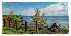 Lake Superior Overlook Beach Towel
