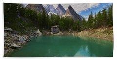 Lake Verde In The Alps II Beach Towel